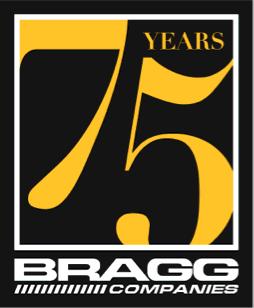 Bragg 75th Anniversary Logo in Footer