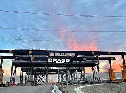Bragg Gantry Sunset