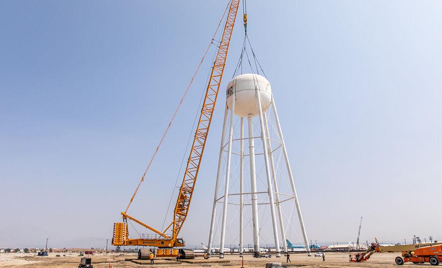 San Manuel Water Tower crane
