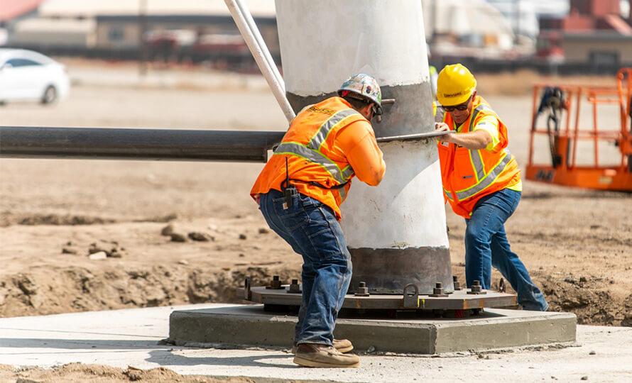 San Manuel Water Tower workers